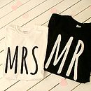 Wedding Gift His And Hers T Shirts