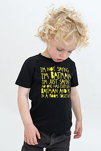 Kids Batman T Shirt