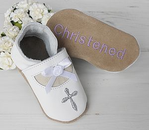 Personalised Mary Jane Christening Shoes