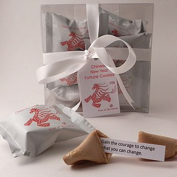 Chinese New Year Fortune Cookies: White Wrap