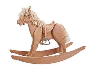 Handcrafted Wooden Rocking Horse - premium toys & games