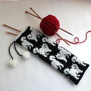 Cat Knitting Needle Case - bags & purses