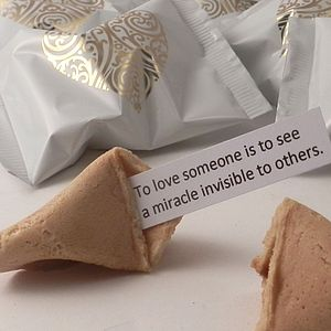 Wedding Fortune Cookies: Unusual Wedding Favours