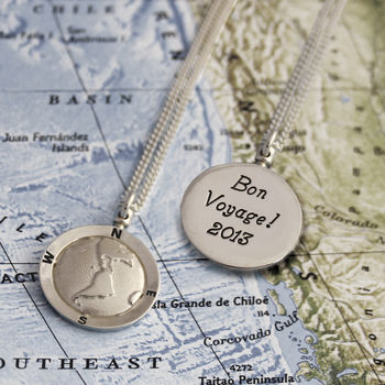 Personalised Globe St Christopher Necklace