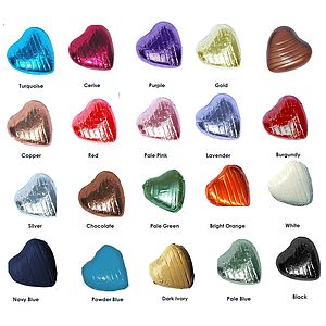 200 Foil Covered Heart Shape Chocolates - cakes & treats