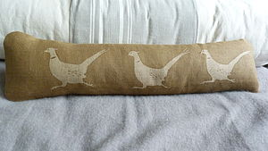 Little Running Pheasant Bolster/Excluder - cushions
