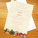 'Rustic Rose' Wedding Invitation