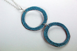 Reversible Double Circle Enamel Necklace - necklaces & pendants