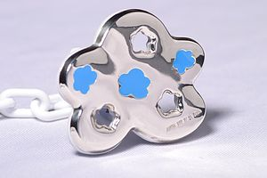 Designer Cloud Sterling Silver Pacifier Clip Baby Gift - baby & child sale