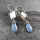 Blue Opal Tab Earrings