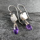 Amethyst Tab Earrings