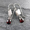 Garnet Tab Earrings