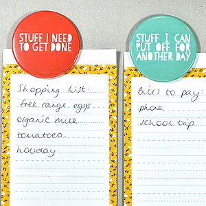 'Prioritise Your Stuff' Magnet Set