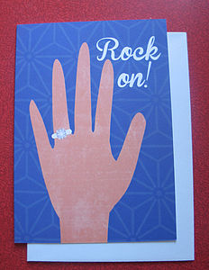 Engagement 'Rock On' Card