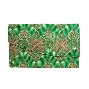 African Printed Fabric Envelope Clutch Bag - bags & purses