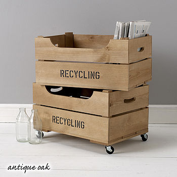 Personalised Crate With Lipped Front