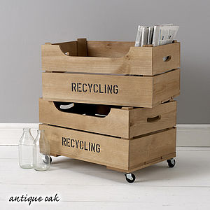 Personalised Crate With Lipped Front - kitchen accessories