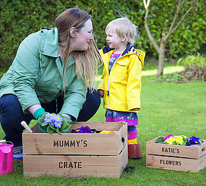 Mummy And Me Personalised Crates - pots & planters