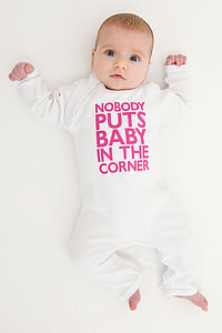 'Nobody Puts Baby In The Corner' Baby Grow