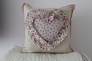 Wedding/Engagement Lavender Heart Cushion 35% Off - cushions