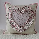 Wedding/Engagement Lavender Heart Cushion 35% Off