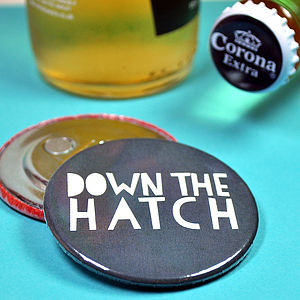 'Down the Hatch' Magnetic Bottle Opener