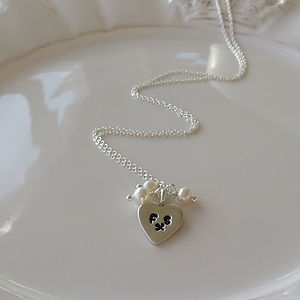 Initials Silver Heart Necklace - necklaces & pendants