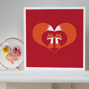 Foxy Love - wedding, engagement & anniversary cards