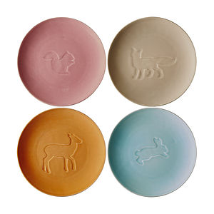 Animal Glazed Ceramic Plate