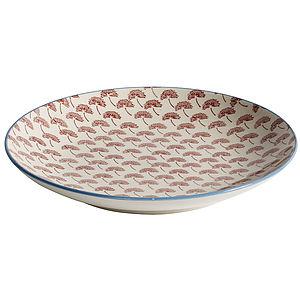 Red Dandelion Plate - kitchen