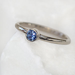 Blue Sapphire Ring In 18ct Gold, Eco Friendly - women's jewellery
