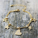 Delicate Pearl Charm Bracelet
