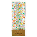 Floral Paper Party Straw Set Of 24