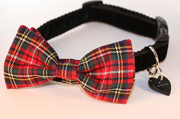 Hamish Tartan Bow Tie Dog Collar