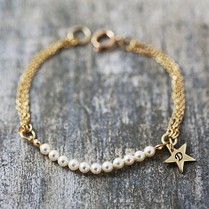 Charm Bracelet With Swarovski Pearls - jewellery