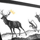 Stag Night Hand Gilded Print