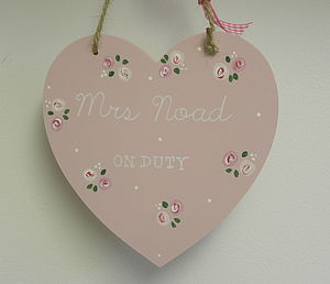 Double Sided Personalised Rose Heart