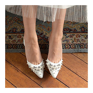 Pearl And Silk Dress Heels - women's fashion