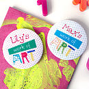Personalised Child's 'Work Of Art' Magnet