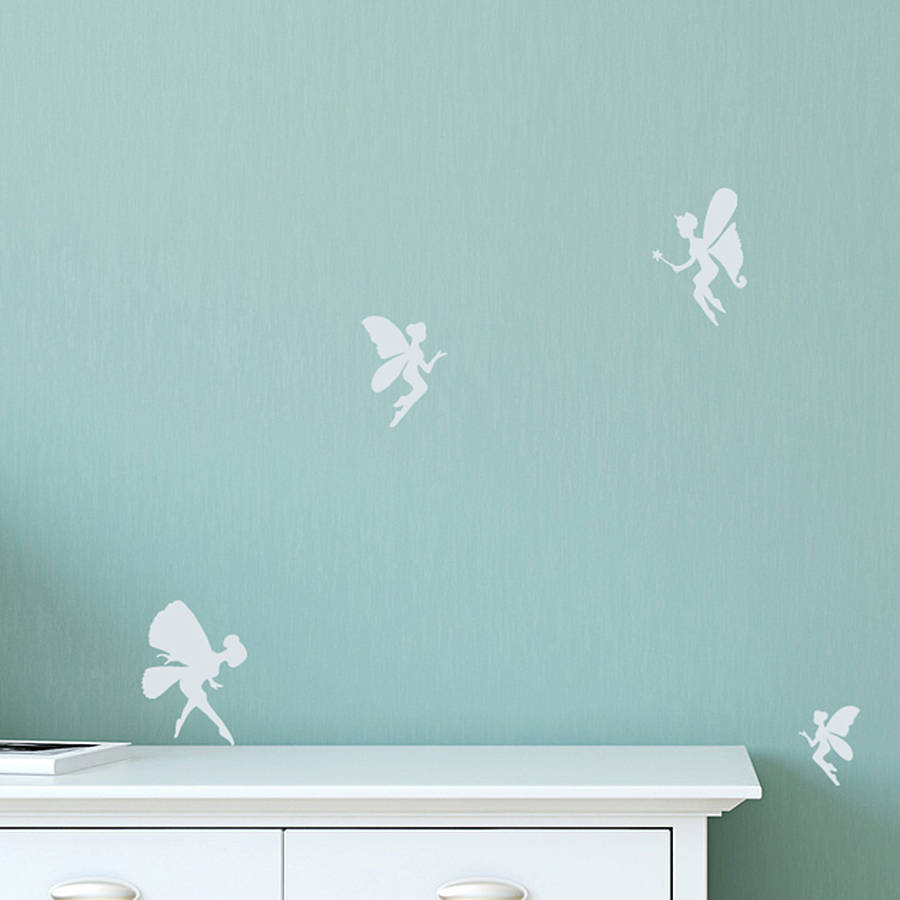 Set Of Mini Fairy Wall Stickers By Leonora Hammond