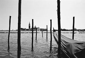 Grand Canal, Venice, Black And White Signed Art Print