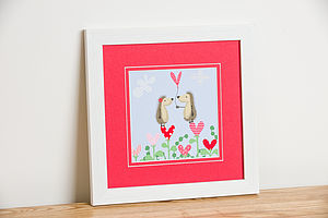 'Hedgehugs' Love Heart Framed Print - posters & prints