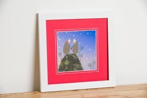 'Hedgehugs' Star Gazing Print