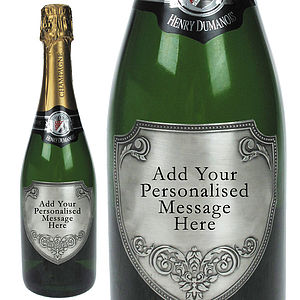 Champagne With Personalised Pewter Label - wines, beers & spirits