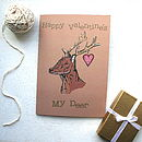 Deer Valentine's Day Card