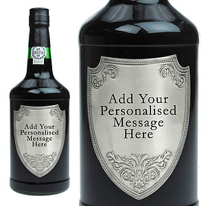 Ruby Port With Personalised Pewter Plaque - spirits & cocktails