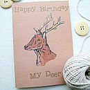 Woodland Deer Birthday Card