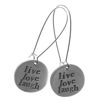 Sentiment Charm Earrings