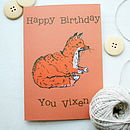 Woodland Fox Birthday Card