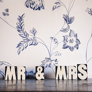 Mr And Mrs Blocks - decorative letters